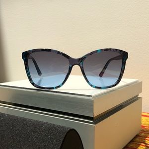 New Dolce & Gabbana Blue Cat Eye Sunglasses